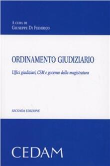 Nicocaradonna.it Ordinamento giudiziario. Uffici giudiziari, CSM e governo della magistratura Image