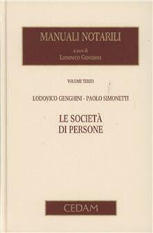 Daddyswing.es Manuali notarili. Vol. 3\1: Le società di persone. Image