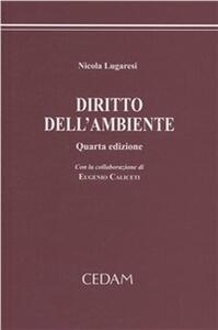 Diritto dell'ambiente - Nicola Lugaresi - copertina