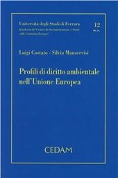 Profili di diritto ambientale nell'Unione europea