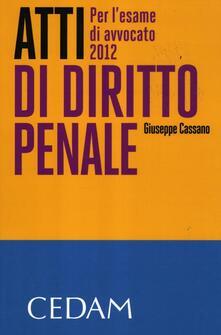 Ascotcamogli.it Atti di diritto penale. Per l'esame di avvocato 2012 Image