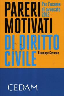 Grandtoureventi.it Pareri motivati di diritto civile. Per l'esame di avvocato 2012 Image