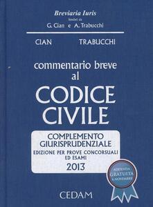 Commentario breve al codice civile. Complemento giurisprudenziale. Per prove concorsuali ed esami 2013