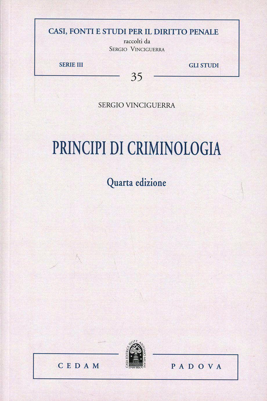 Principi di criminologia