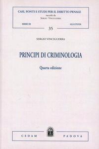 Libro Principi di criminologia Sergio Vinciguerra