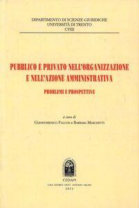 Libro Pubblico e privato nell'organizzazione e nell'azione amministrativa. Problemi e prospettive