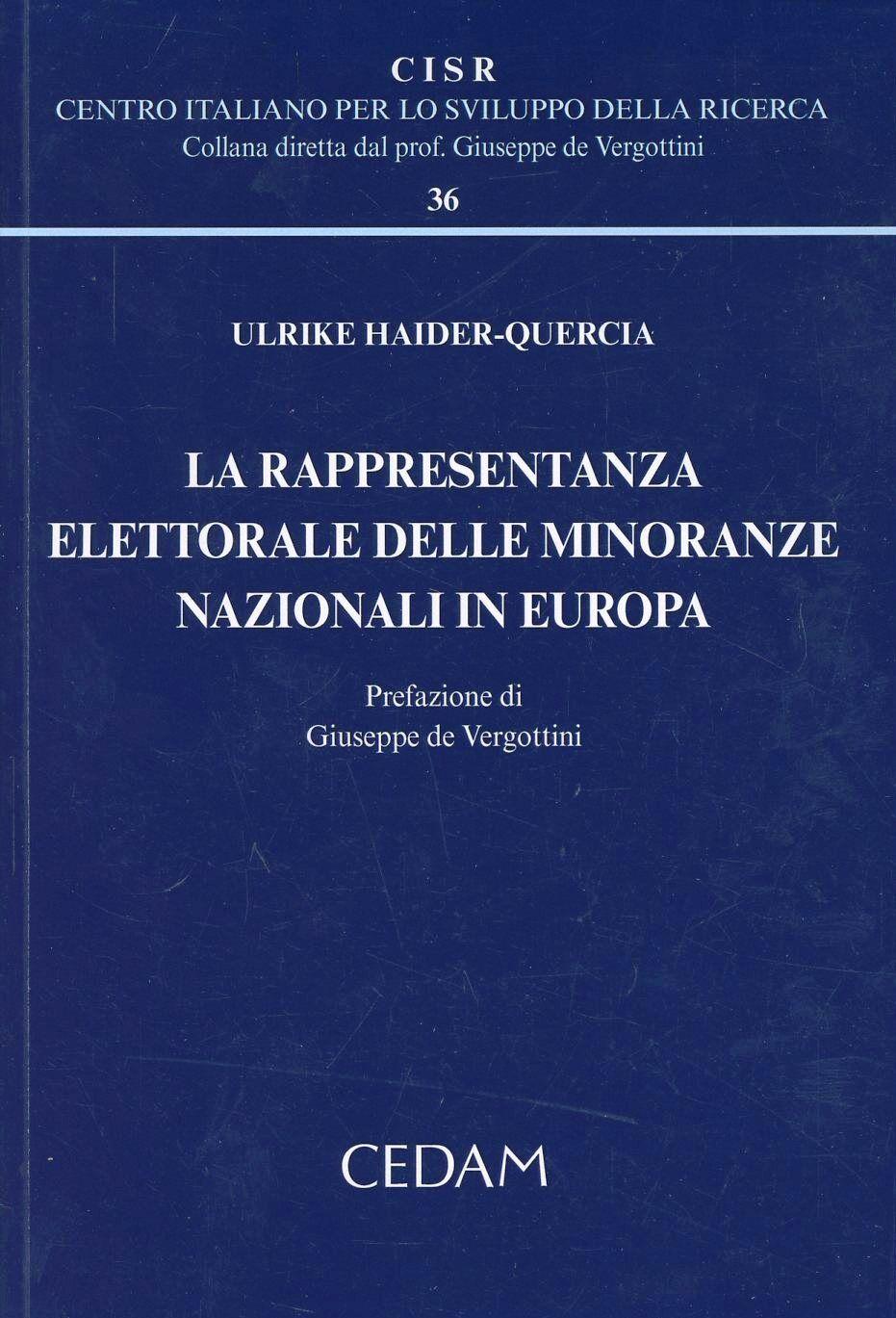 La rappresentanza elettorale delle minoranze nazionali in Europa