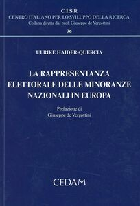 Libro La rappresentanza elettorale delle minoranze nazionali in Europa Ulrike Haider-Quercia
