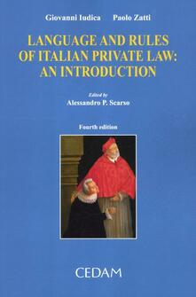 Antondemarirreguera.es Language and rules of italian private law. An introduction Image
