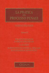 La pratica del processo penale. Vol. 2: Indagini preliminari e udienza preliminare. Il giudizio. Il procedimento dinanzi al tribunale in composizione monocratica.
