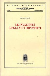 Libro Le invalidità degli atti impositivi Stefano Zagà