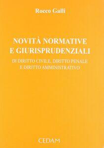 Novità normative e giurisprudenziali di diritto civile, diritto penale e diritto amministrativo. Vol. 1