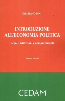 Radiospeed.it Introduzione all'economia politica. Regole, istituzioni e comportamenti Image