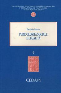 Libro Pericolosità sociale e legalità Patrizia Mazza