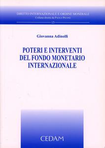 Libro Poteri e interventi del fondo monetario internazionale Giovanna Adinolfi
