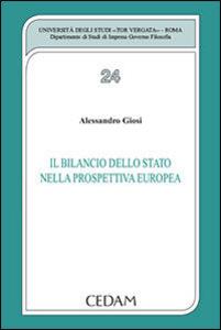 Libro Il bilancio dello stato nella prospettiva europea Alessandro Giosi