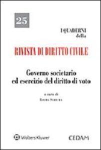 Libro Governo societario ed esercizio del diritto di voto