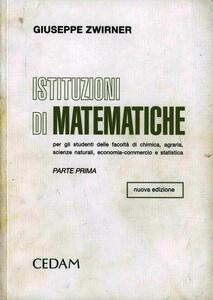 Istituzioni di matematiche. Vol. 1