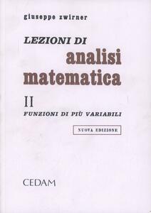 Lezioni di analisi matematica. Vol. 2: Funzioni di più variabili.