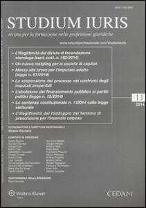 Libro Studium iuris. Rivista per la formazione nelle professioni giuridiche (2014). Vol. 11