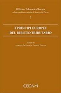 Libro I principi europei del diritto tributario