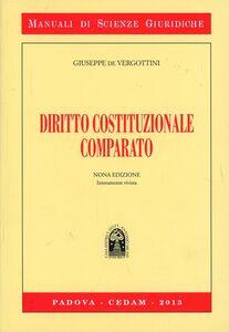 Libro Diritto costituzionale comparato Giuseppe De Vergottini