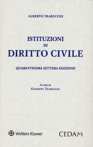 Libro Istituzioni di diritto civile Alberto Trabucchi