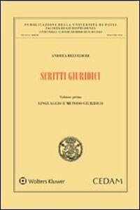 Libro Scritti giuridici Andrea Belvedere