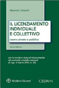 Il licenziamento individuale collettivo. Lavoro privato e pubblico