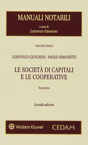 Libro La società di capitali e le cooperative Lodovico Genghini , Paolo Simonetti
