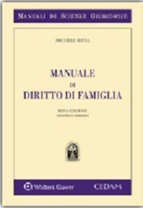 Foto Cover di Manuale di diritto di famiglia, Libro di Michele Sesta, edito da CEDAM
