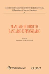 Libro Manuale di diritto bancario e finanziario