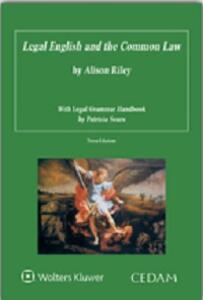 Legal english and the common law - Alison Riley - copertina