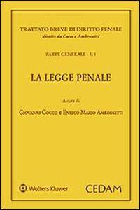 Libro La legge penale. Parte generale. Vol. 1\1