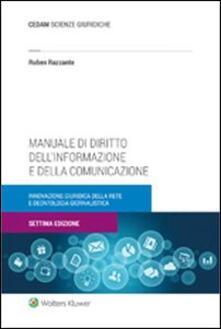 Rallydeicolliscaligeri.it Manuale di diritto dell'informazione e della comunicazione Image
