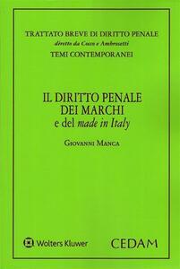Diritto penale dei marchi e del made in Italy - Manca - copertina