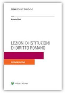 Lezioni di istituzioni di diritto romano - Antonio Masi - copertina