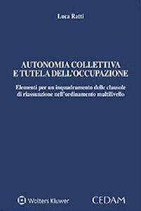 Autonomia collettiva e tutela dell'occupazione. Elementi per un inquadramento delle clausole di riassunzione nell'ordinamento multilivello
