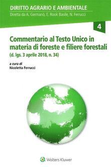 Librisulladiversita.it Commentario al Testo Unico in materia di Foreste e Filiere forestali (d. lgs. 3 aprile 2018, n. 34) Image