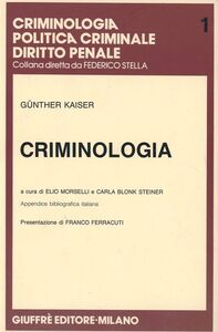 Libro Criminologia Gunther Kaiser