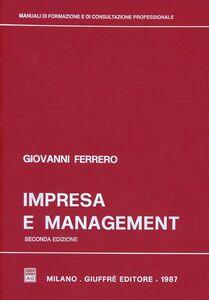Libro Impresa e management Giovanni Ferrero