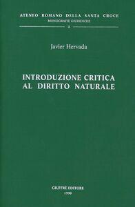 Libro Introduzione critica al diritto naturale Javier Hervada