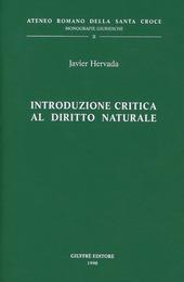 Introduzione critica al diritto naturale
