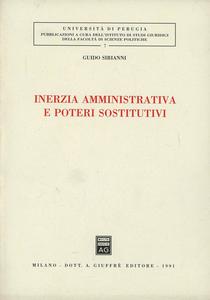 Libro Inerzia amministrativa e poteri sostitutivi Guido Sirianni