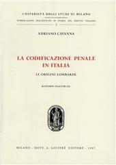 La codificazione penale in Italia