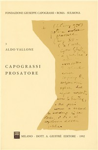 Libro Capograssi prosatore Aldo Vallone