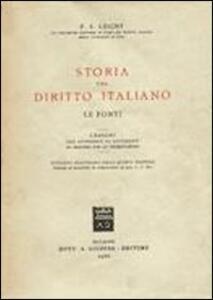 storia del diritto italiano pdf