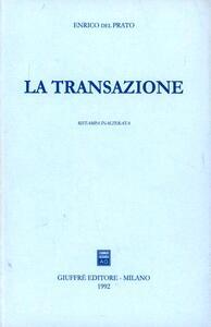 La transazione - Enrico Del Prato - copertina
