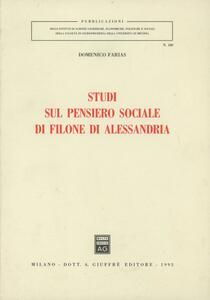 Studi sul pensiero sociale di Filone di Alessandria