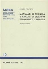 Manuale di tecnica e analisi di bilancio per giuristi d'impresa